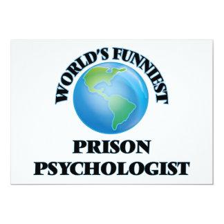El psicólogo más divertido de la prisión del mundo invitación 12,7 x 17,8 cm