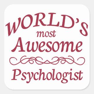 El psicólogo más impresionante del mundo pegatina cuadrada