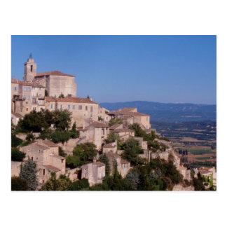 El pueblo del top de la colina de Gordes Postal