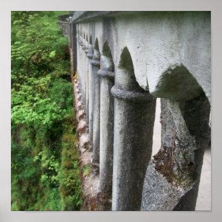 El puente de la erosión póster
