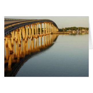 El puente en Goodland, isla de Marco, la Florida Tarjeta De Felicitación
