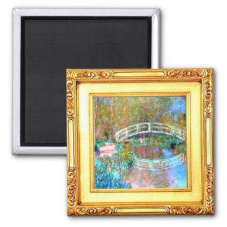 El puente japonés por el imán de Claude Monet