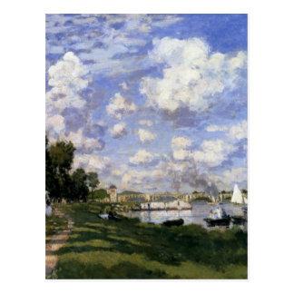 El puerto deportivo en Argenteuil de Claude Monet Postal