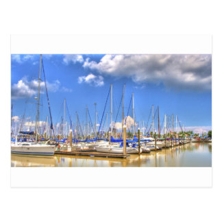 El puerto deportivo tarjeta postal