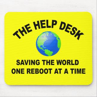 El puesto de informaciones - ahorro del mundo alfombrilla de ratón