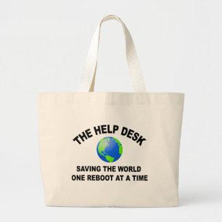El puesto de informaciones - ahorro del mundo bolsa tela grande