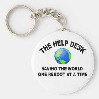 El puesto de informaciones - ahorro del mundo llavero redondo tipo chapa