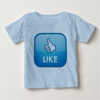 El pulgar para arriba tiene gusto del friki camiseta para bebé