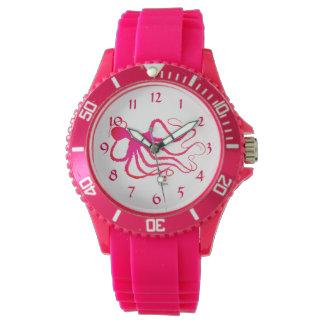 El pulpo del Amy - reloj rosado deportivo del