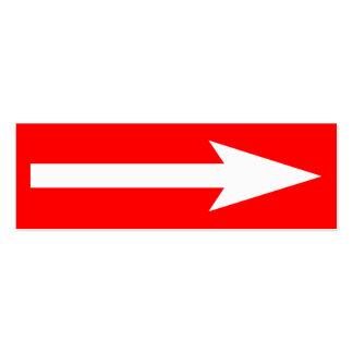 El punto entero - rojo y blanco tarjetas de visita mini