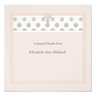 El punto rosado le agradece Notecard Invitación 13,3 Cm X 13,3cm