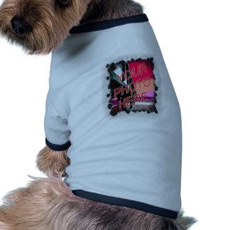 El punto se descolora plantilla del marco camisas de perritos