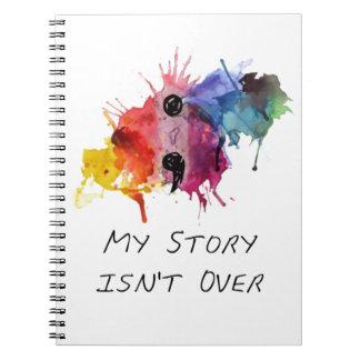 El punto y coma mi historia no ha terminado cuaderno