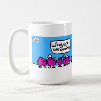 el queing para el té tazas
