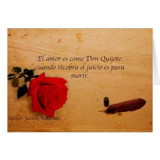EL Quijote del como del es del amor del EL Tarjetas