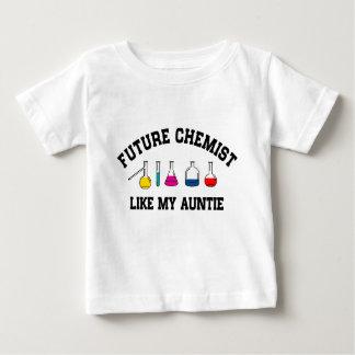 El químico futuro tiene gusto de mi tía camiseta de bebé