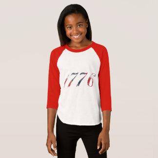 El raglán 1776 del chica camiseta