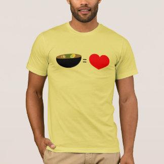 el ramen es amor camiseta
