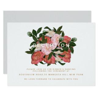 El ramo/la recepción invitación 8,9 x 12,7 cm