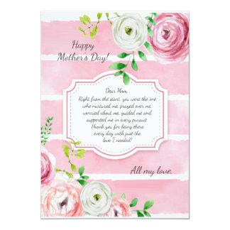 El ranúnculo florece la tarjeta del día de madre