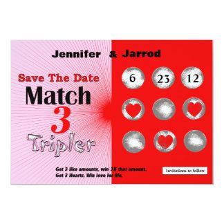 El rasguño de la loteria del amor apagado ahorra invitación 12,7 x 17,8 cm