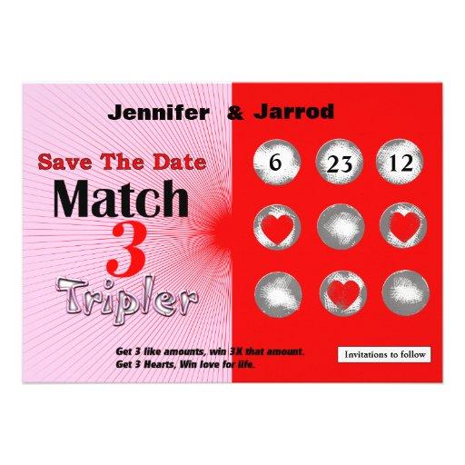 El rasguño de la loteria del amor apagado ahorra l invitaciones personales