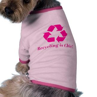 ¡El reciclaje es elegante Camisetas De Mascota