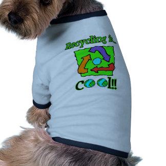 El reciclaje es fresco camisa de perrito