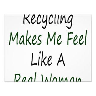 El reciclaje hace que siente como una mujer real anuncios