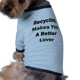 El reciclaje le hace a un mejor amante prenda mascota
