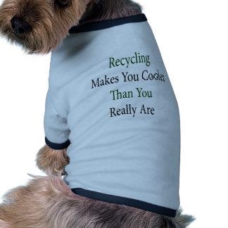 El reciclaje le hace el refrigerador que usted est camisas de mascota