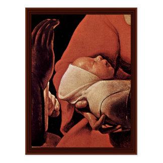 El recién nacido nacimiento de Cristo Postal
