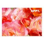 El recordatorio de la cita carda las flores color  plantillas de tarjeta de negocio