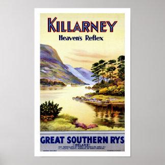 El reflejo del cielo del ~ de Killarney Póster