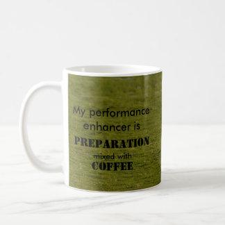 El reforzador del funcionamiento del deporte es taza de café