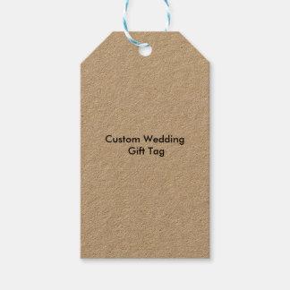 El regalo de boda de encargo marca Kraft con Etiquetas Para Regalos