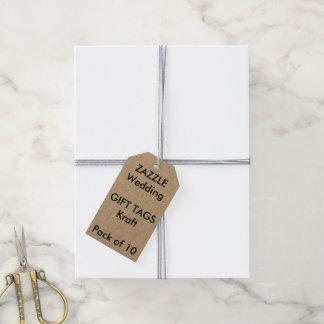 El regalo de encargo del boda marca KRAFT con Etiquetas Para Regalos