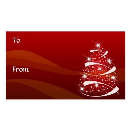 El regalo del árbol de navidad marca el *TBA con e Tarjetas De Visita