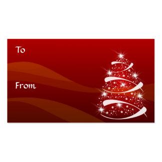 El regalo del árbol de navidad marca el *TBA con Tarjetas De Visita