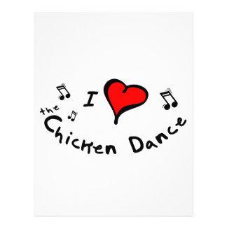 el regalo del Corazón-Amor de la danza I del pollo Folleto 21,6 X 28 Cm