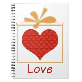 El regalo del cuaderno espiral del amor
