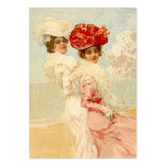 El regalo del estilo del ~esque del Victorian Tarjetas De Visita Grandes