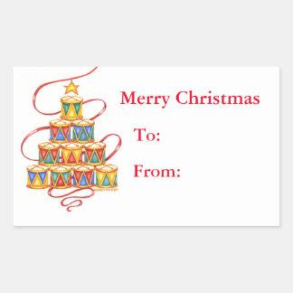 El regalo del navidad etiqueta el árbol de