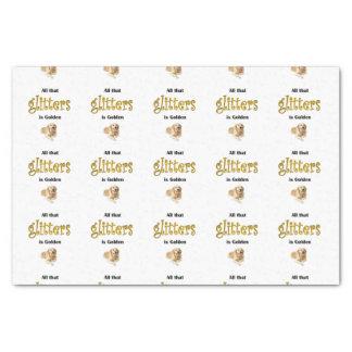 El regalo del papel seda del golden retriever,