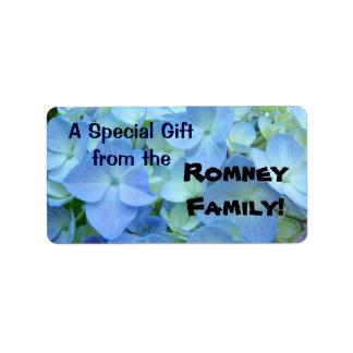 El regalo etiqueta una forma especial del regalo etiquetas de dirección