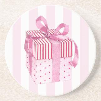 El regalo rosado raya el práctico de costa posavasos personalizados