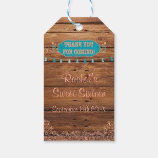El regalo rústico del tarro de albañil marca el etiquetas para regalos