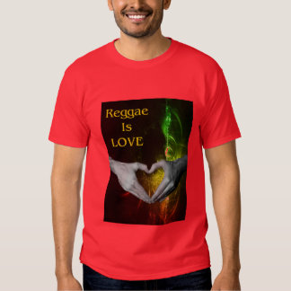 El reggae es amor camisetas