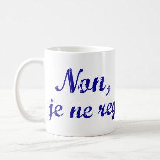 """El regrette francés del ne del je de la frase """"no taza de café"""