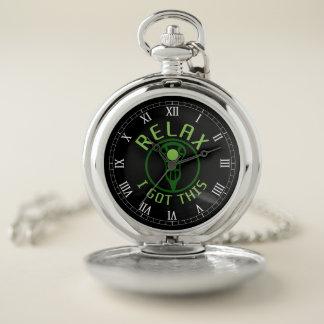 El reloj de bolsillo de LaCrosse, me relaja